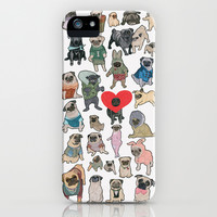 Pugs iPhone & iPod Case by Yuliya
