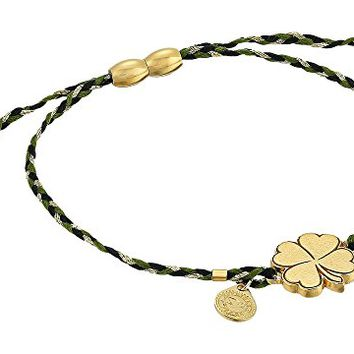 Alex and Ani Precious Threads Four Leaf Clover Thicket Braid Bracelet