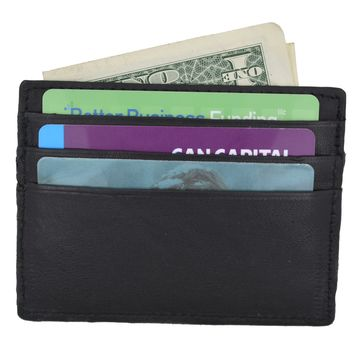 Swiss Marshal Soft Premium Genuine Leather Slim Thin Credit Card Money Bill Holder Wallet SM-P170