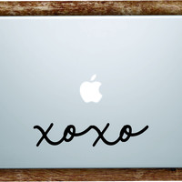 XOXO Laptop Apple Macbook Quote Wall Decal Sticker Art Vinyl Beautiful Inspirational Girls Hugs Kisses Cute