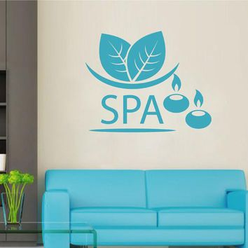 ik2485 Wall Decal Sticker candles grass beauty salon spa stained glass window