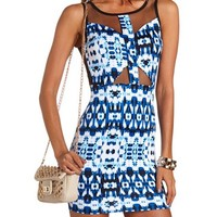 Watercolor Mesh Inset Body-Con: Charlotte Russe