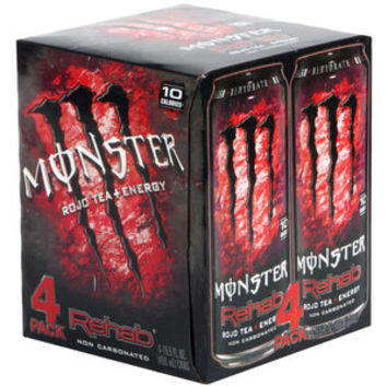 Walmart: Monster Rehab Rojo Tea + Energy Drinks, 15.5 fl oz, 4 pack