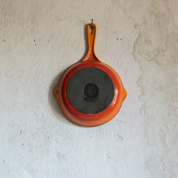 Vintage Le Creuset Frying Pan //  Enameled Cast Iron Skillet