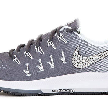 Nike Air Zoom Pegasus 33 - Crystallized Swarovski Swoosh - Gray