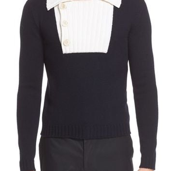 Men's J.W.ANDERSON Exaggerated Placket Sweater,