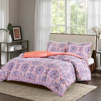 Intelligent Design Zoe Twin/Twin XL Comforter Set in Coral