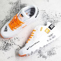 Nike Air Max 90 x Off-White White Orange Running Shoes - Best Deal Online