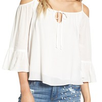 Sun & Shadow Off the Shoulder Ruffle Top | Nordstrom