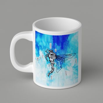 Gift Mugs | Dragonfly Anatomy Ceramic Coffee Mugs