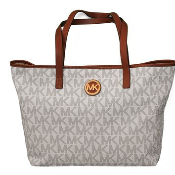 Michael Kors Jet Set Travel Medium Travel Tote - Vanilla