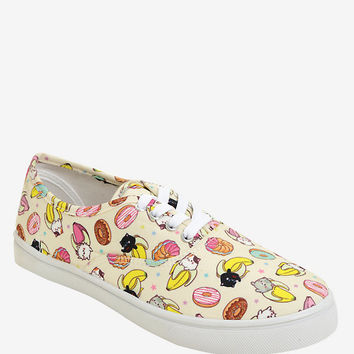 Bananya & Friends Lace-Up Sneakers