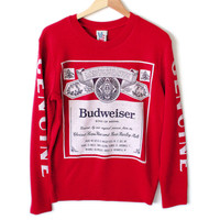 Urban Outfitters Budweiser Beer Tacky Ugly Sweater