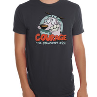 Courage The Cowardly Dog Logo T-Shirt
