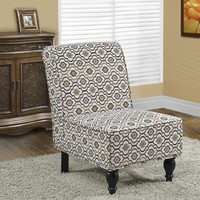 Earth Tone Fabric Traditional Accent Chair