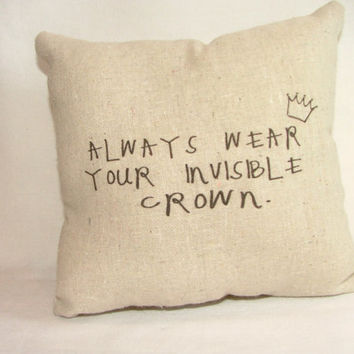 Princess Invisible Crown Pillow by cayteelynn on Etsy