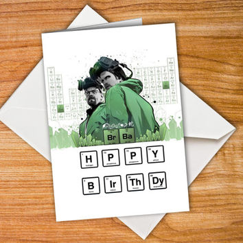 birthday card Breaking Bad, happy birthday card, Heisenberg Card, Walter White, Jesse Pinkman, anniversary card, personalized, Paper Goods