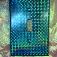 HOLOGRAPHIC Light Switch Cover // Seapunk // Psychedelic