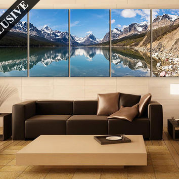 Extra Large Wall Art Nature Fine Art Canvas Wall Decor Modern Wall Hanging Fine Art Print on Canvas Mountain Wall Art Poster for Room Decor