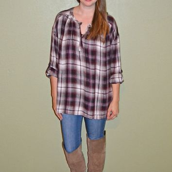 Crazy for You Plaid Top