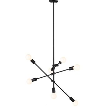 Nuevo Living Byron Matte Black Multi-Light Pendant