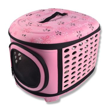 Dogs Cats Travel Bag Folding Small Pets Carrier flower print Travel Cage