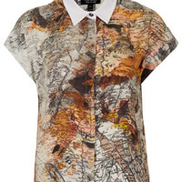 Map Print Shirt - Tops  - Clothing