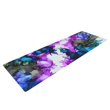 "Claire Day ""Utopia"" Blue Pink Yoga Mat"