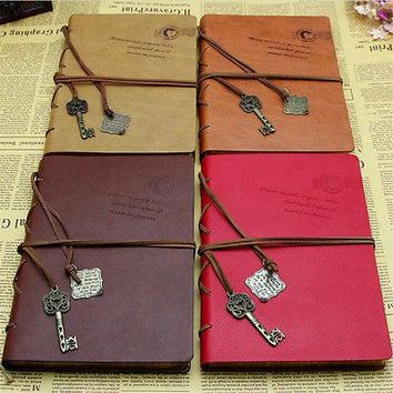classical Vintage Leather Traveler's Notebook Diary Handmade Sketchbook Journal Refill Paper Gift Personalized Get Accessories