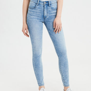 AE Super Soft High-Waisted Jegging, Crystal Ice