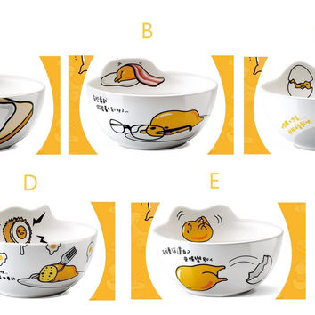 "Sanrio Gudetama Family Mart Limited 5""x2.5"" Ceramics Bowl 5 Type"