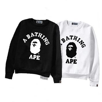 Bape Aape autumn and winter new tide brand men's casual round neck shark sweater