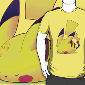 Nap Time with Pikachu by theillestbrew