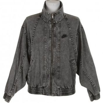 Nike Black Stone Wash Denim Jacket  - Vintage clothing from Rokit -