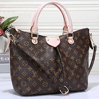 LV Louis Vuitton Popular Women Shopping Bag Leather Tote Crossbody Satchel Shoulder Bag Pink I