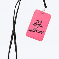 Go Shopping ID Lanyard
