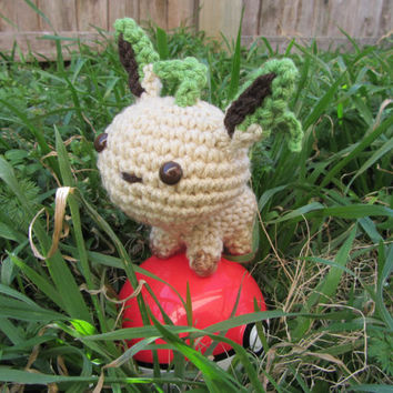 Made to Order - Crochet - Chibi Pokemon Amigurumi - Leafeon