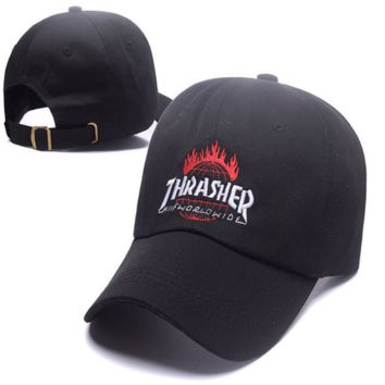 Trendy Thrasher Flame Print Outdoor Baseball Sports Cap