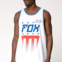 Fox Red White And True Tank Top - Mens Tee - White