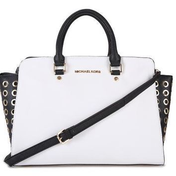 Michael Michael Kors Leather Tote Studded Selma Medium