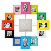$45.00 Family Time Photo Frame Clock Multi Colour