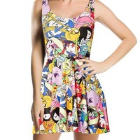 Digital Print Women Scoop Skater Dress
