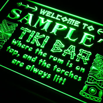 Personalized Custom Tiki Bar Beer Neon Light Sign