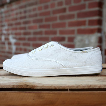 Keds Champion Lace Sneakers {Cream} Women's |  WF52062