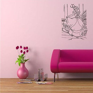 Cinderella Cartoon Wall Art Sticker Decal O449