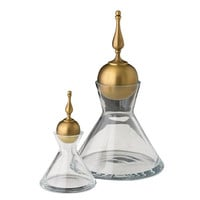 Global Views Finial  Decanter - Brass
