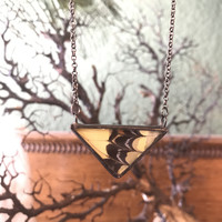 "1.5"" Yellow Swallowtail Butterfly Wing Pendant"