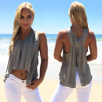 Martini Blouse In Olive