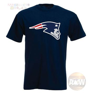 New England Patriots Tom Brady Logo Adult Unisex T Shirt