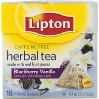 Lipton  Herbal Tea Pyramids, Blackberry Vanilla 18 ct, 1.3 oz